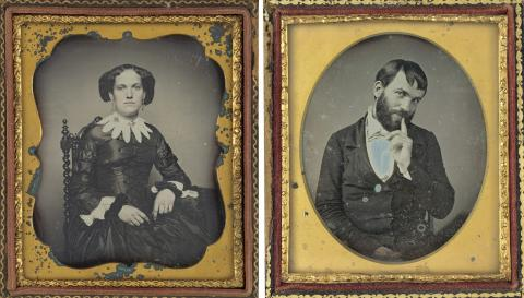 Foto: Augustus Washington, Portrait of a Woman, circa 1850; unknown American, Portrait of a Man, circa 1850 /The National Gallery of Art/